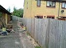 BEFORE - Old Featheredge - Click image to enlarge it.