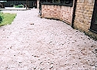 DURING - New base for Flag Stone Paving - Click image to enlarge it.